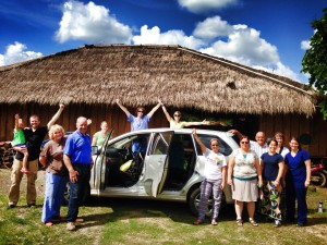 Group photo with Dave & Summer's Van